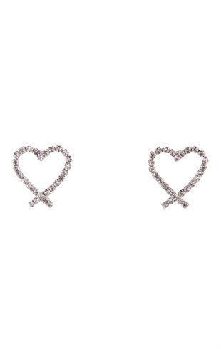 Deb Shops Open #Heart Rhinestone #Earrings: Heart Rhinestones, Rhinestones Earrings, Earrings Fashion, Jewelry Accessories, Catch Accessories, Debshop, Deb Shops, Rhinestone Earrings, Open Heart