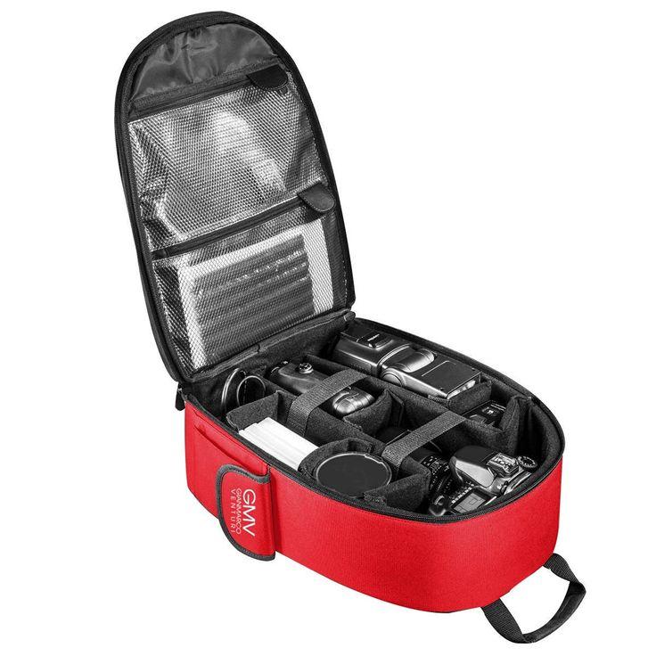 ZAINO porta Fotocamera, obbiettivi e Tablet + COVER (ROSSO): Amazon.it…