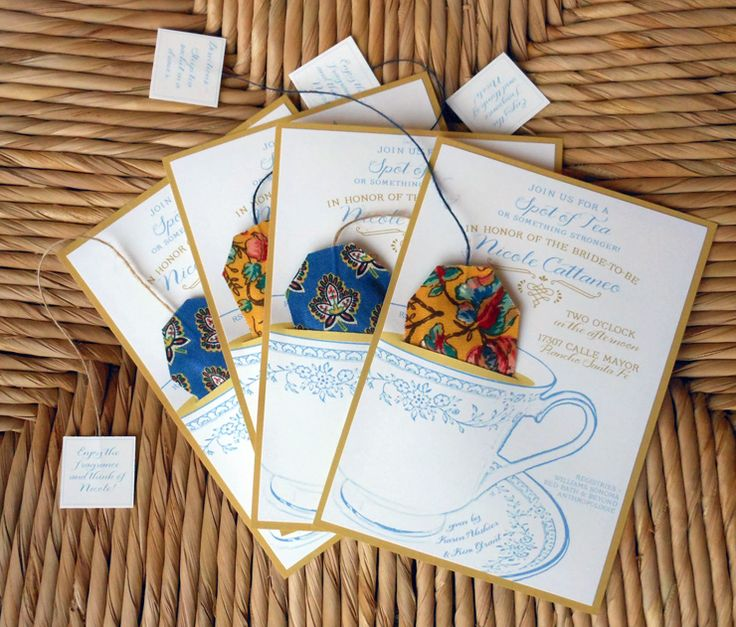 Tea party invitation  |  Miniature Rhino