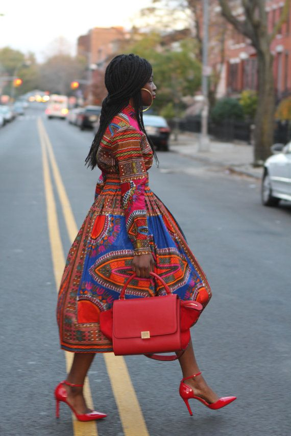 Angelina Rose Tailored Dashiki Shirt Ready to by tribalgroove