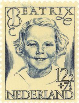 1946 | S.L. Hartz | blauw | prinses Beatrix