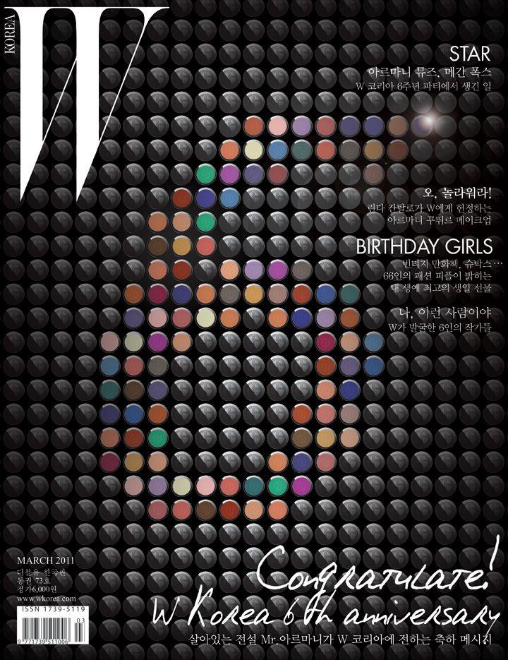 W magazine korea 6th anniversary cover concept design
