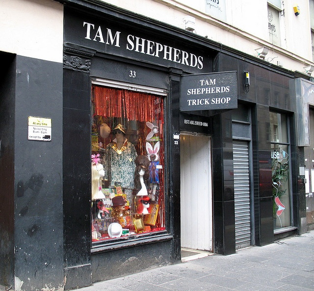 Tam Shepherds Trick Shop, Glasgow by Sir Wilton Shagpile,B.M.K., via Flickr