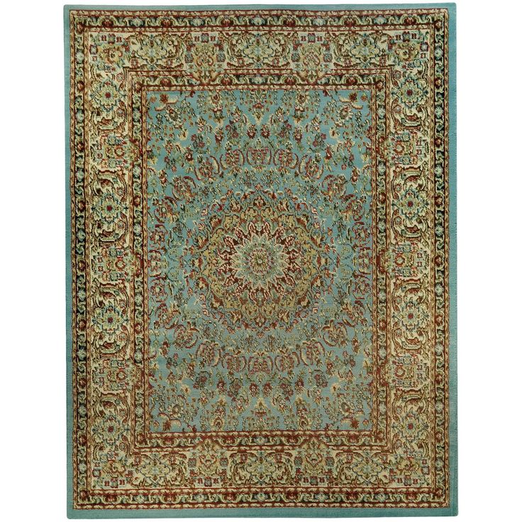 Pasha Collection Medallion Traditional Ocean Blue Area Rug 5 3 X 6 11 4516 5x7 Black Jute Abstract Products Pinterest Apartamento And Ideias