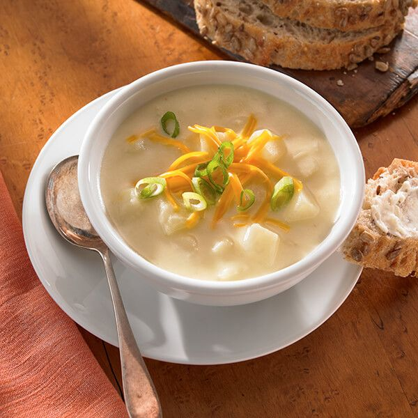 This smooth, creamy potato soup can be described best as comfort in a bowl.