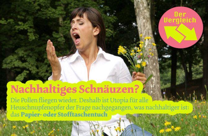 Was ist grüner: Papier- oder Stofftaschentücher? | Utopia.de