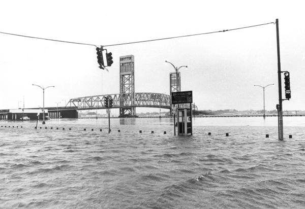 Hurricane Dora flooded Downtown Jacksonville.