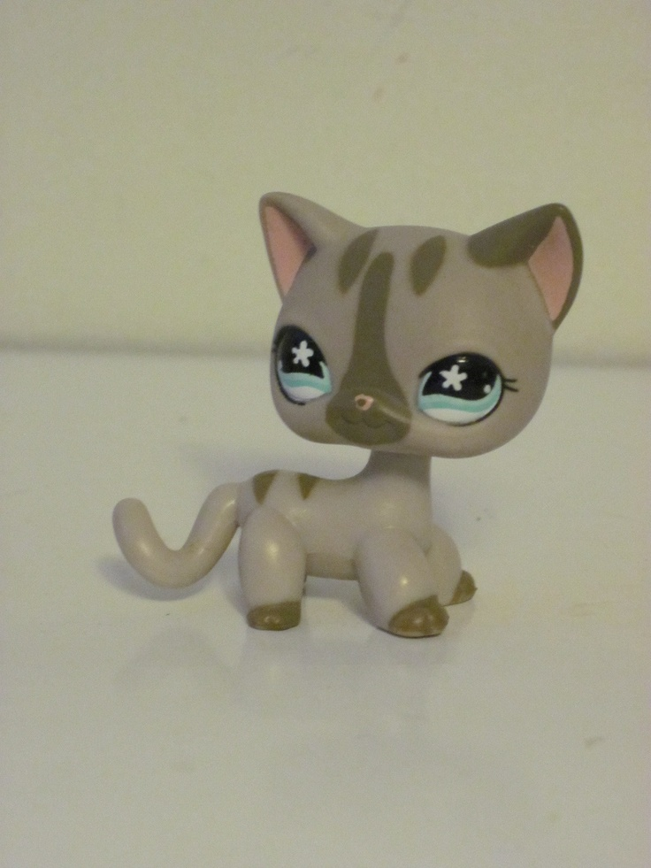 Littlest Pet Shop LPS Cute Kitty Cat Short Hair Grey Tabby | eBay    -this was one of the first LPS I ever got; he came in a pack of two. I named him Tiger :)