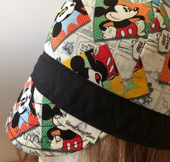 Mickey Mouse Comic Strip Welder Hat Cap Liner Welding Cap Pattern Welding Hats Hat Liner
