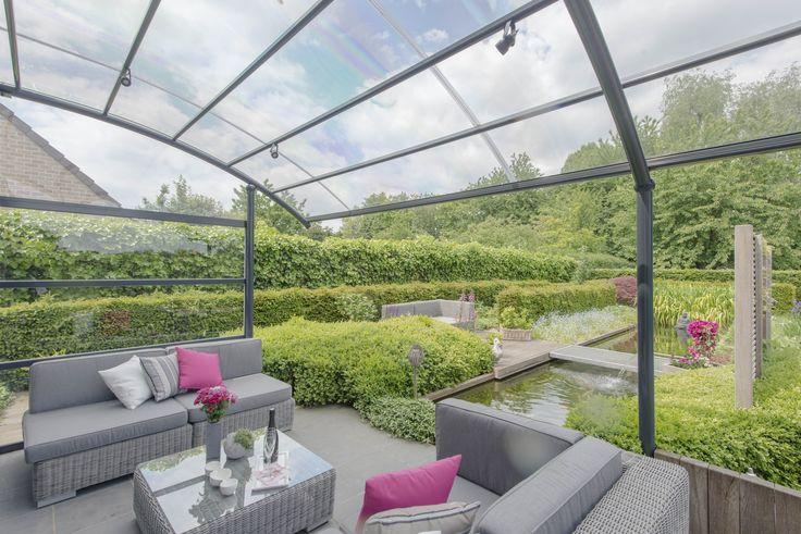 25 beste idee n over terrasmeubilair op pinterest - Overdekt terras in aluminium ...