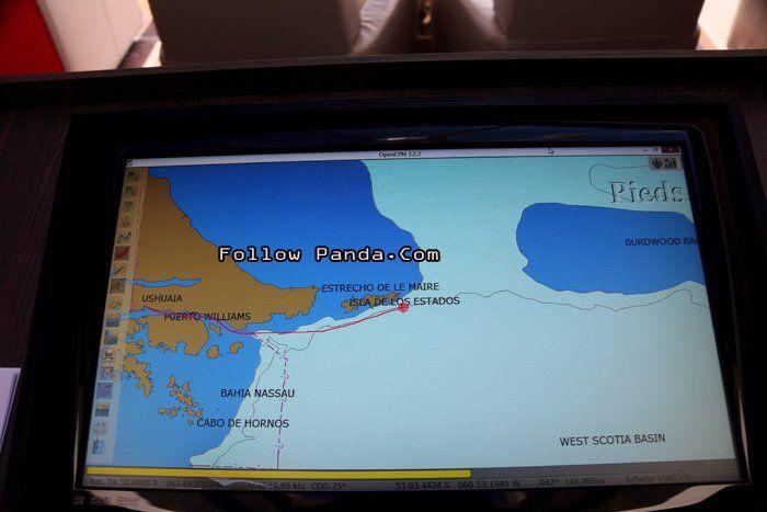Le Boreal Antarctic Cruise Ship Map - Staten Island, Tierra del Fuego, Patagonia, Argentina | FollowPanda.COM