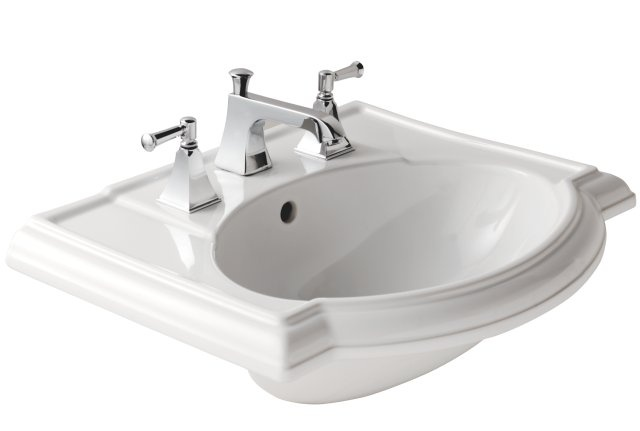 19777w Devonshire Semi Recessed Basin W560 X D460 Mm Kohler Bathroom Sinks Low Profile