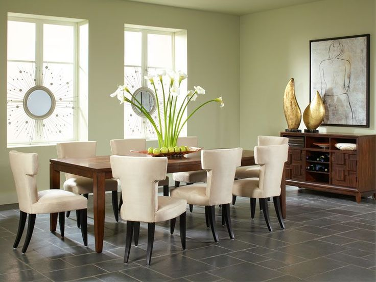 Rent The Campton Rectangular Dining Room With Aventura Chairs From CORT And Create A Great Looking Comfortable Place To Gather In Your Home
