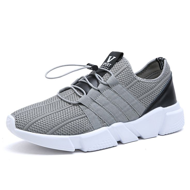 2017 Nouveau Hommes Discount Chaussures de Course Respirant Hommes  Chaussures de Sport Gris/Noir de Course Formateurs Mens Sport Sneaker