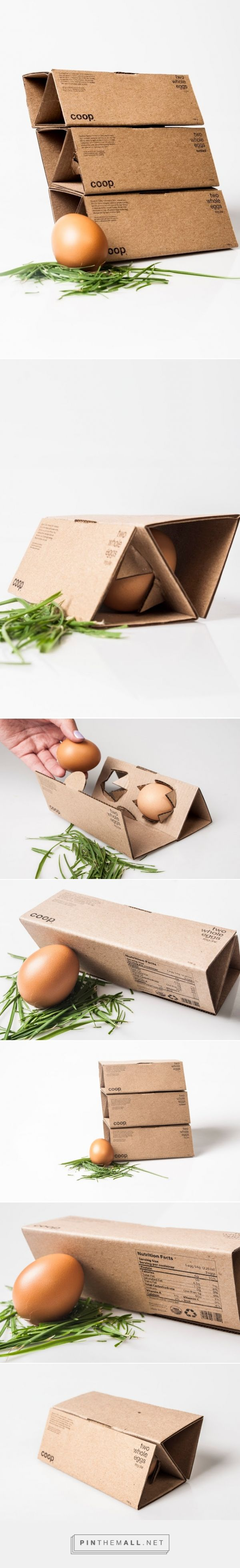 Coop ‪#‎eggs‬ ‪#‎packaging‬ ‪#‎concept‬ designed by Aimee Domínguez & Daniela Fonseca - http://www.packagingoftheworld.com/2015/04/coop-student-project.html