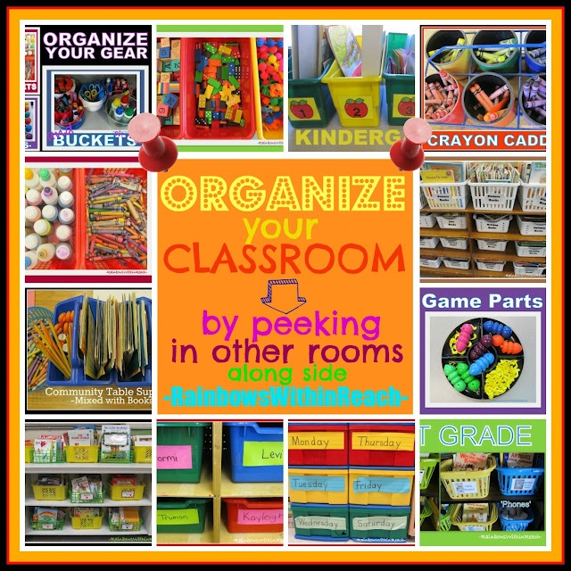 Classroom Organization of Materials brought to you by RainbowsWithinReach