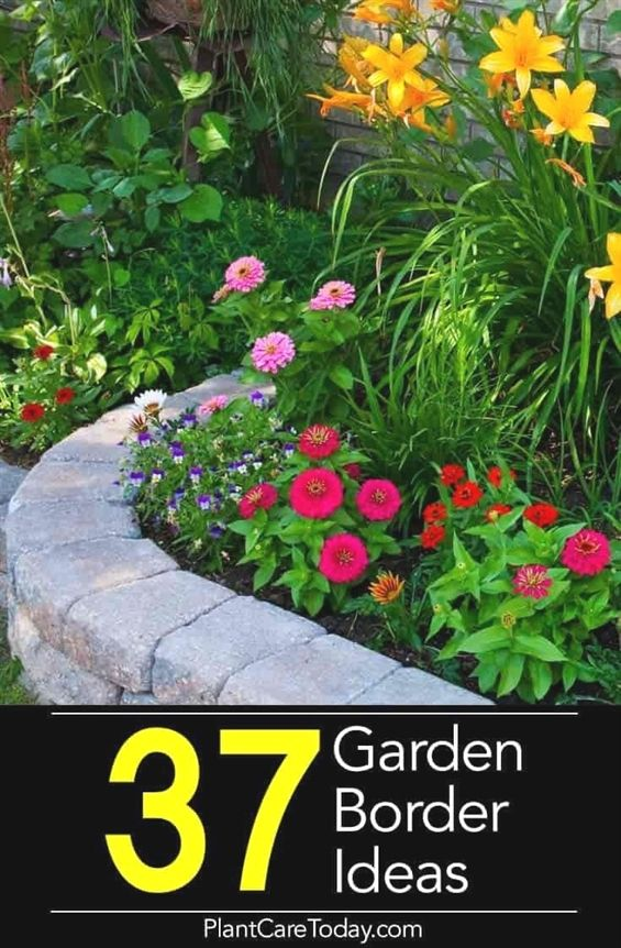 Garden borders add an important landscape touch Find 37 practical