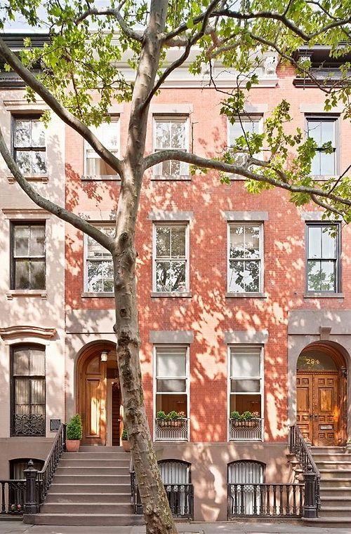 Brownstones in Manhattan.