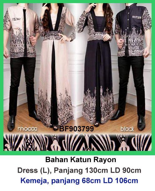 Gamis batik couple 799