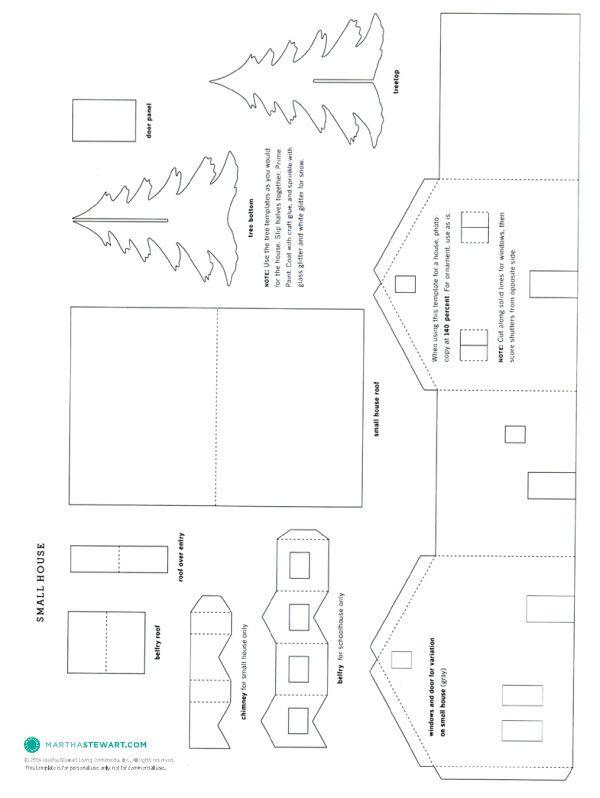 modele maison carton a imprimer
