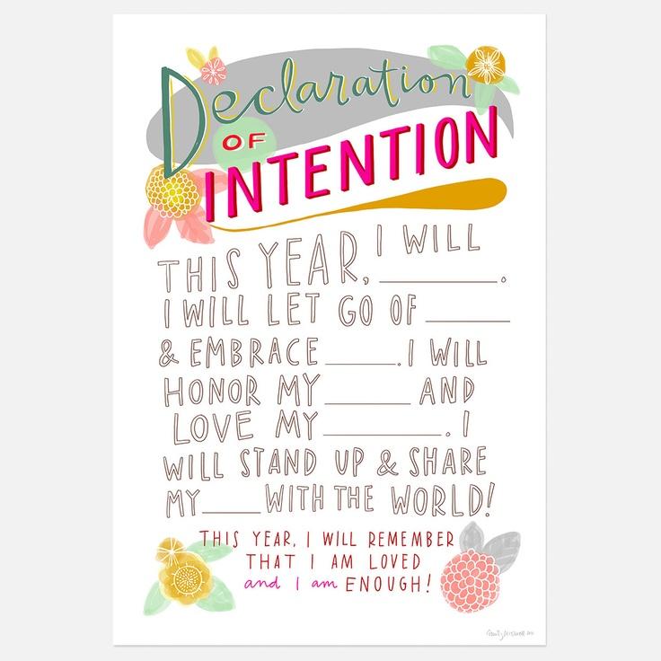 Declaration of Intention 13x19