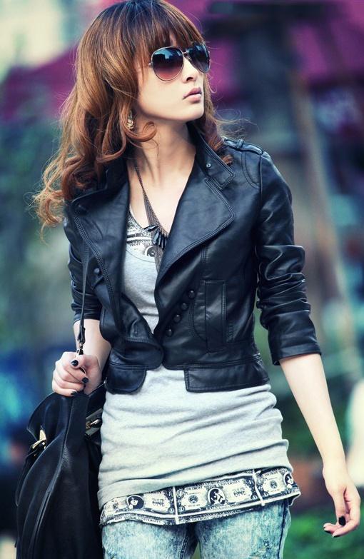 Best 25  Short leather jacket ideas on Pinterest   Dark bob ...