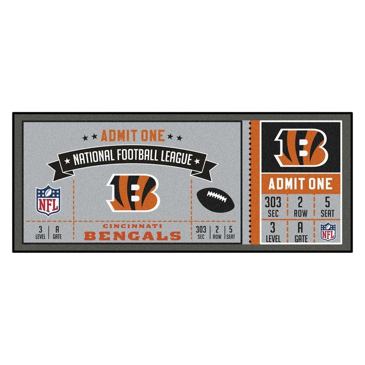 "NFL - Cincinnati Bengals Ticket Runner 30""x72"""