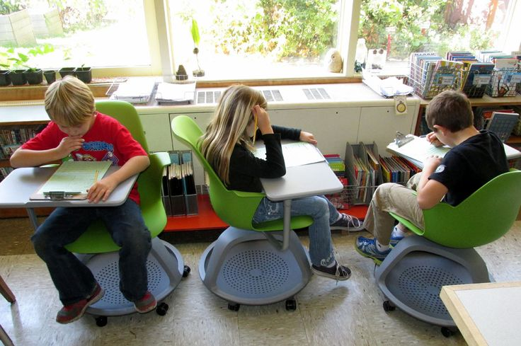 These incredible Node chairs by Steelcase were obtained through DonorsChoose. I wrote a request for four of them, and Chevron fulfilled the project! Students are absolutely thrilled with how they are able to collaborate or work independently.