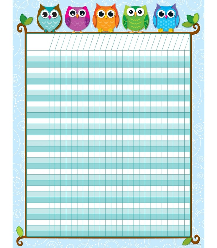 Colorful Owls Incentive Chart | Classroom décor from Carson-Dellosa