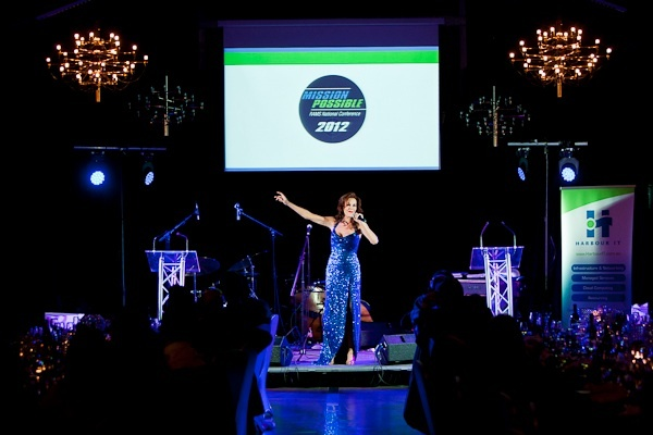 Rhonda Burchmore does another awesome stage performance for awards celebrations