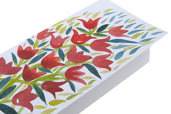 Tulips. Hand made watercolor greeting card. Make a gift worth opening and card worth holding.
