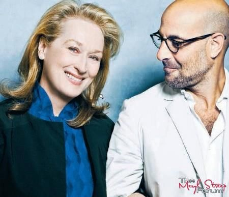 With Stanley Tucci