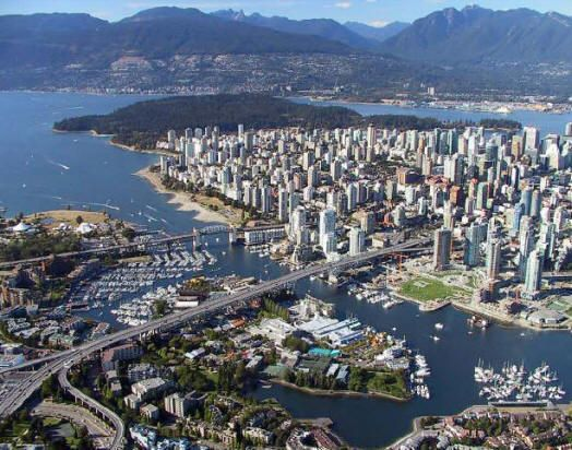Vancouver Aerial View Of False Creek Granville Island
