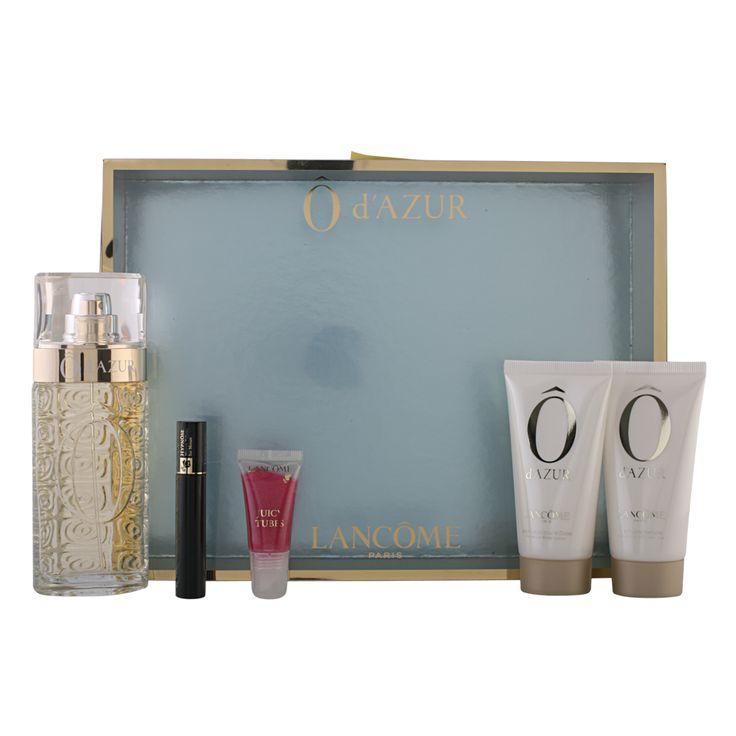 Lancôme  O D'Azur  5 Piece Set 75ml edt Spray, 2ml Hypnose Mascara Black, 50ml Shower Gel, 50ml Body Lotion and 6ml Juicy Tube - See more at: http://perfumesdepot.co.uk/lanc-93199.html#sthash.mQIHuObn.dpuf