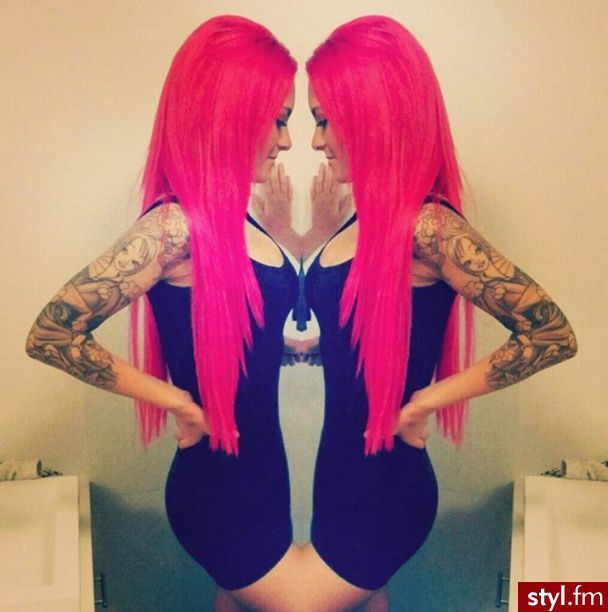 Hot pink hair, colorful hair, hair colors, pink