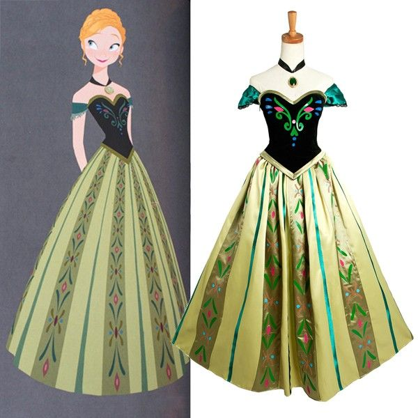 elsa anna sewing patterns | Frozen cosplay/costume Anna's dress on Elsa's coronation day