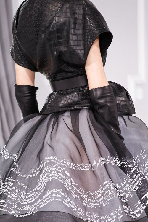 Christian Dior Haute Couture Spring Summer 2012, Details!!