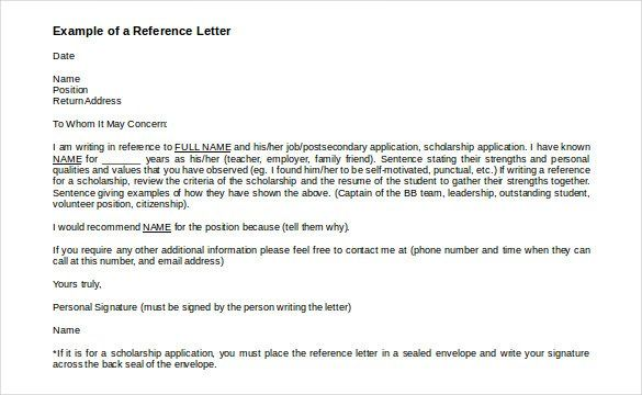 42 Reference Letter Templates Pdf Doc Reference Letter