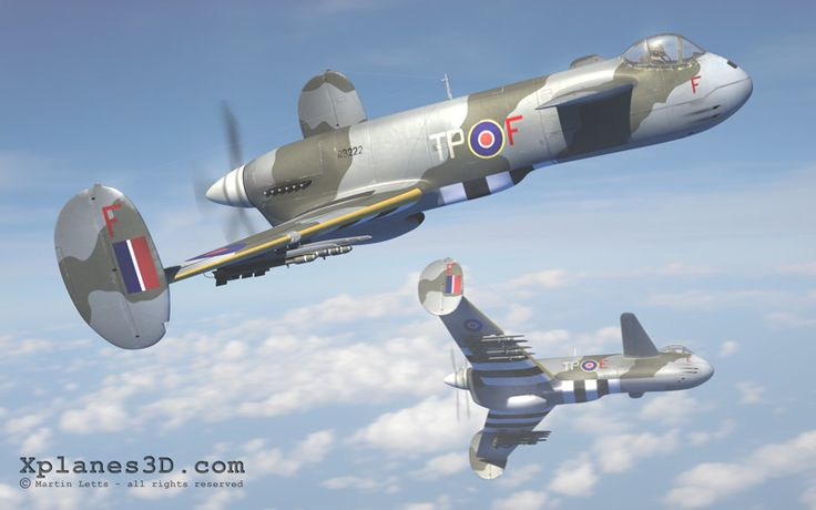Boulton Paul P.100 canard ground attack fighter-bomber