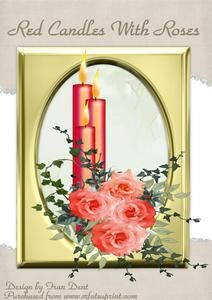 Red Candles With Roses