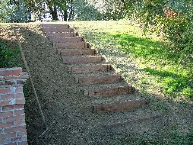 Costruire dei gradini in giardino cerca con google for Terra per giardino