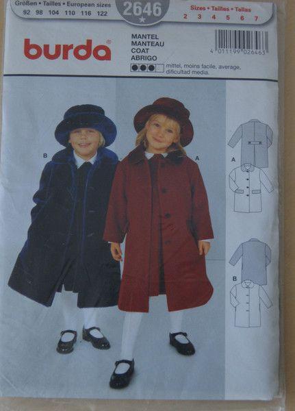 Burda Schnitt original verpackt  2646 (Kinder) von mamafriedasmachBar auf DaWanda.com