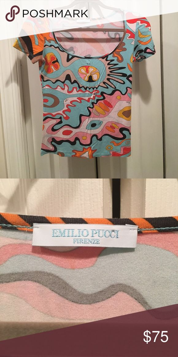 Authentic Multi color T Shirt Barely worn short sleeve Emilio Pucci Tops Tees - Short Sleeve