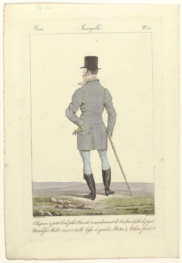 Georges Jacques Gatine   Incroyables et Merveilleuses, 1811, Incroyable, No. 10…