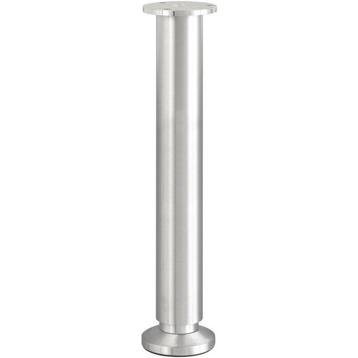 Pied De Lit Sommier Cylindrique Reglable Aluminium Brosse Gris De 30 A 32 Cm Pied De Lit Lit Sommier Sommier