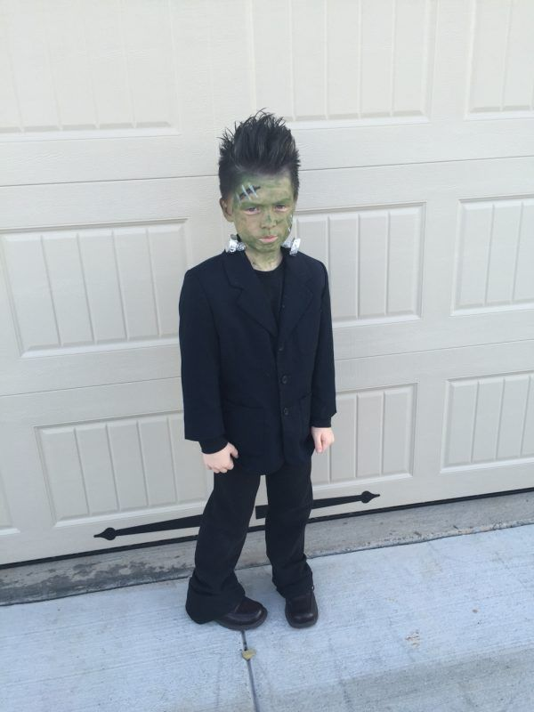 DIY Frankenstein Halloween Costume Idea