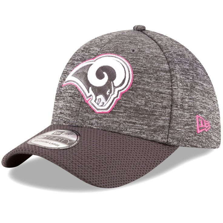 Los Angeles Rams New Era 2016 Breast Cancer Awareness Sideline 39THIRTY Flex Hat - Heather Gray - $25.59