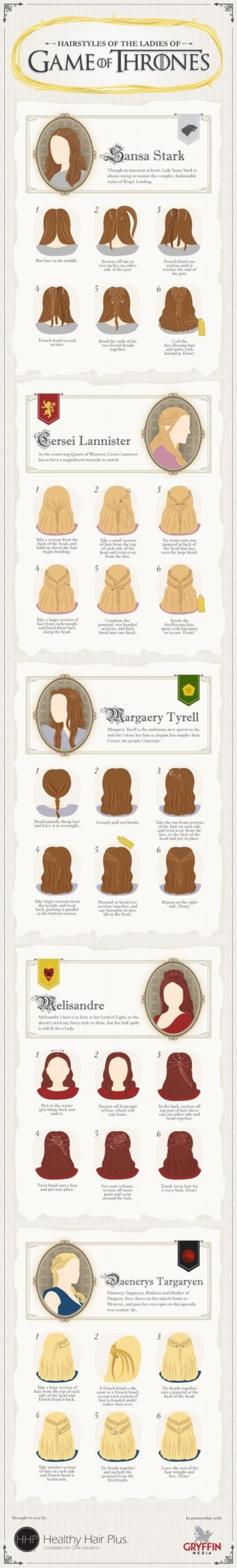 HOW-TO: Ladies' Hairstyles from 'Game of Thrones'