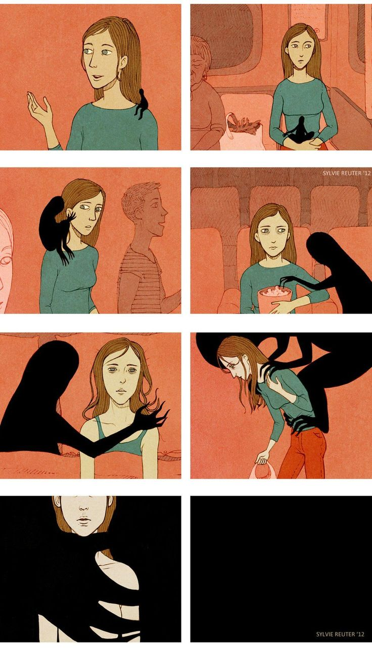 This picture illustrates a person with mental illness always carrying that darkness with them on their shoulders and no matter how much it tires them out. They can't fight it off because it is apart of them.