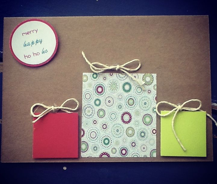 Handmade Christmas Presents Card